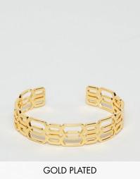Позолоченный браслет-манжета Gorjana Layla - Золотой