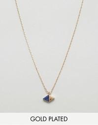 Позолоченное ожерелье с кристаллом Nylon - С золотым покрытием