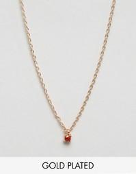 Позолоченное ожерелье с небольшим камнем Nylon - С золотым покрытием
