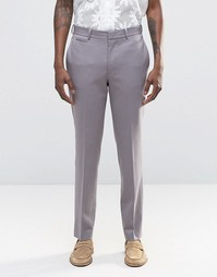 Серые брюки слим ASOS - Серый