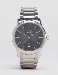 Часы из нержавеющей стали с черным циферблатом Hugo Boss Classic 15133