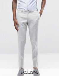 Суперзауженные брюки крапчатой расцветки Noak - Светло-серый