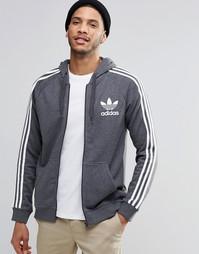 Худи на молнии с логотипом‑трилистником adidas Originals AY7788