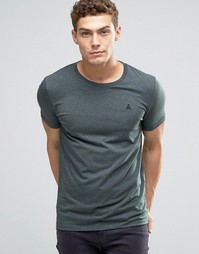 ASOS Muscle T-Shirt With Embroidery In Green Marl - Зеленый меланж