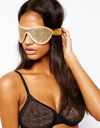 Повязка на глаза с пайетками Gigi Noir - Золотой