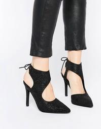 Туфли на каблуке с отделкой Senso Raven - Pewter