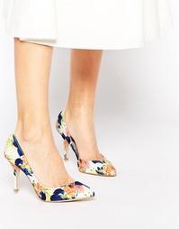 Туфли-лодочки с цветочным принтом Ravel - Цветочный