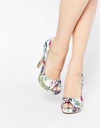 Туфли-лодочки с открытым носком и принтом AX Paris Evie - Принт