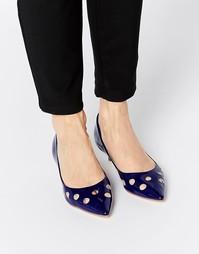 Туфли на каблуке London Rebel Smile - Лакированный темно-синий