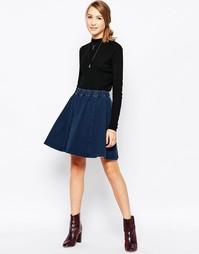 Расклешенная юбка Ichi - Умеренный синий
