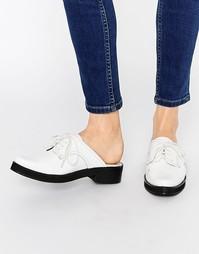 Массивные кожаные сабо со шнуровкой Park Lane - Белый