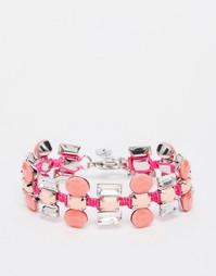 Эффектный браслет с камнями Nali - Розовый
