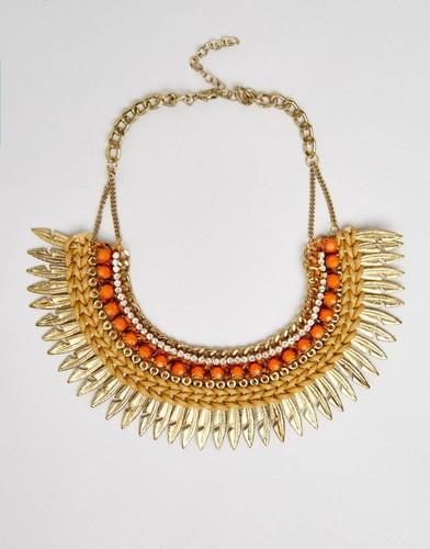 Ожерелье с перьями Raga - Медный