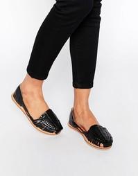 Туфли на плоской подошве London Rebel Mica - Черный