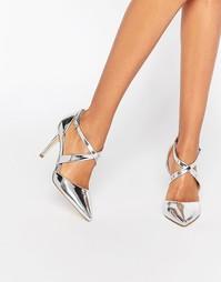 Туфли на каблуке с ремешками накрест Carvela Kross - Silver synthetic