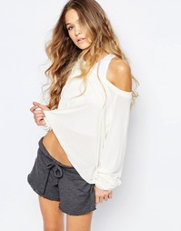 Топ Wildfox Essentials Luca - Pearl