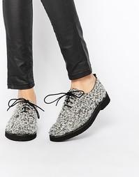 Туфли на плоской подошве и шнуровке Miista Eloise - Черно-белый