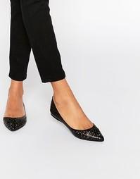 Туфли с вырезами на плоской подошве Steve Madden Evelyne - Черный