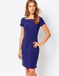 Платье-футляр с асимметричным вырезом Closet - Темно-синий