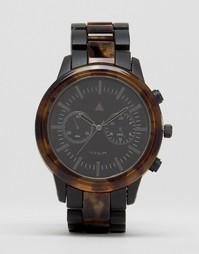 Часы-браслет с контрастным корпусом черепаховой расцветки ASOS