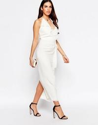 Платье миди с оборкой спереди VLabel Hayes - Белый
