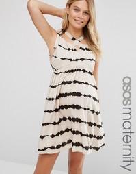 Платье для беременных с принтом тай‑дай ASOS Maternity