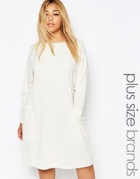 Цельнокройное платье с карманами Carmakoma - Кремовый