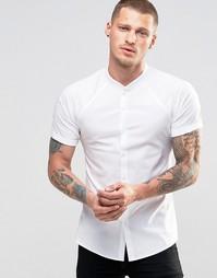 Облегающая белая рубашка с рукавами реглан ASOS - Белый