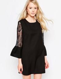 Платье с кружевными рукавами Jovonna Moonphase - Черный