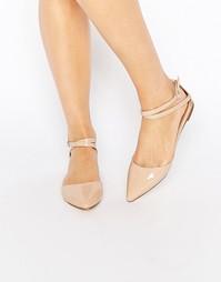 Туфли из двух частей на плоской подошве с ремешком вокруг щиколотки Lo London Rebel