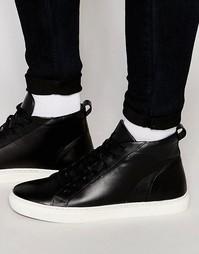 Высокие черные кожаные кроссовки KG By Kurt Geiger - Черный