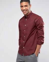 Строгая бордовая рубашка стандартного кроя ASOS - Burgundy