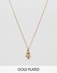 Позолоченное ожерелье с подвеской попугай Nylon - С золотым покрытием