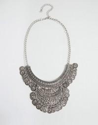 Броское ожерелье с монетками Nylon - Серебряный
