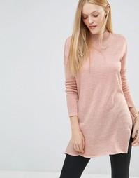 Vero Moda High Neck Long Sleeve Jumper - Розовая пыль
