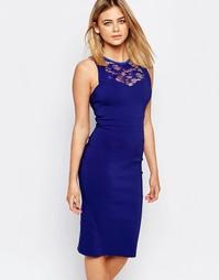 Платье-футляр с кружевом у горловины Vesper Cindy - Синий