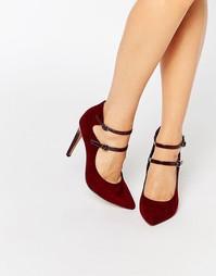 Остроносые туфли на каблуке с ремешками London Rebel
