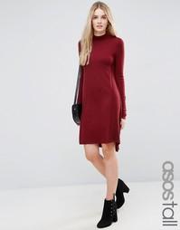 Трикотажное платье-туника из кашемировой смеси ASOS TALL