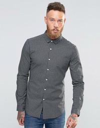 Зауженная рубашка с длинными рукавами и монохромным принтом в клетку A Asos
