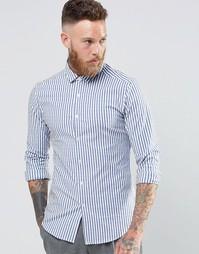 Рубашка скинни в синюю полоску с длинными рукавами ASOS - Синий