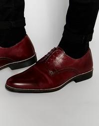 Кожаные бордовые туфли на шнуровке Red Tape - Красный