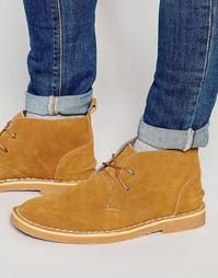 Темно-синие замшевые ботинки чукка Bellfield - Рыжий