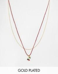 Ожерелье с подвеской‑вишенками Les Nereides - Мульти