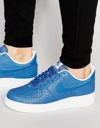 Синие кроссовки Nike Air Force 1 07 Lv8 718152-405 - Синий
