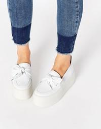 Кожаные туфли на плоской платформе KG By Kurt Geiger Lucky - Белый