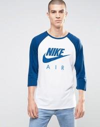 Белый топ с длинными рукавами реглан Nike Air 805227-100 - Белый