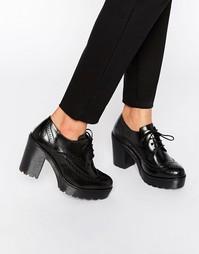 Туфли на массивном каблуке Bronx - Черный