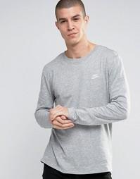 Серый лонгслив Nike 804413-063 - Серый