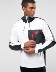 Белая куртка с капюшоном Nike AV15 804732-100 - Белый