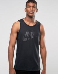 Черная майка с логотипом Nike Ace 779234-010 - Черный